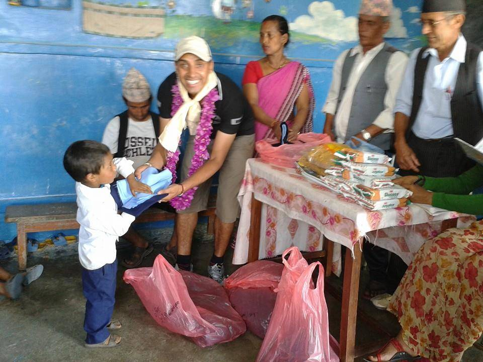 Charity at the Kaskikot school