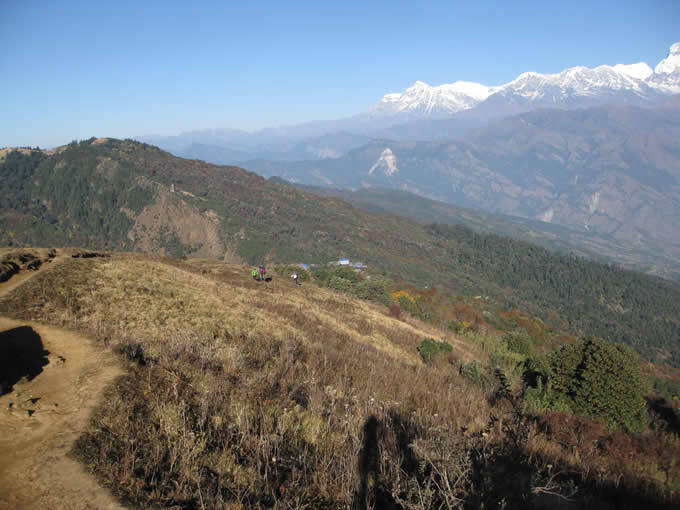 View from Happy Hill over Ghorepani
