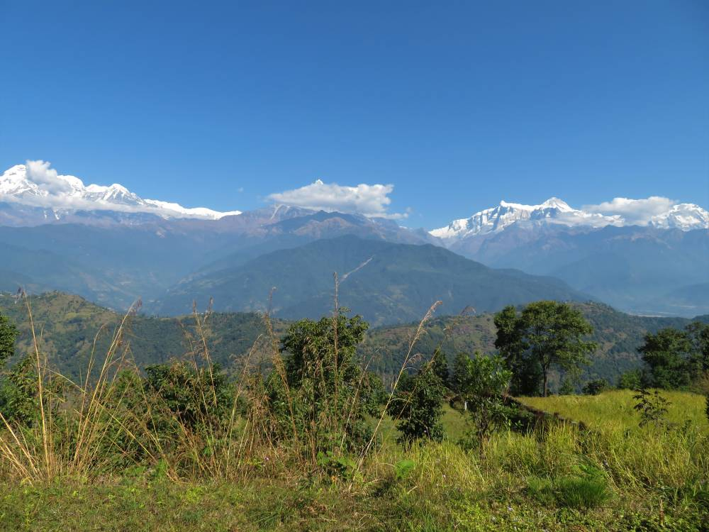 Annapurna View from Kaski Hills