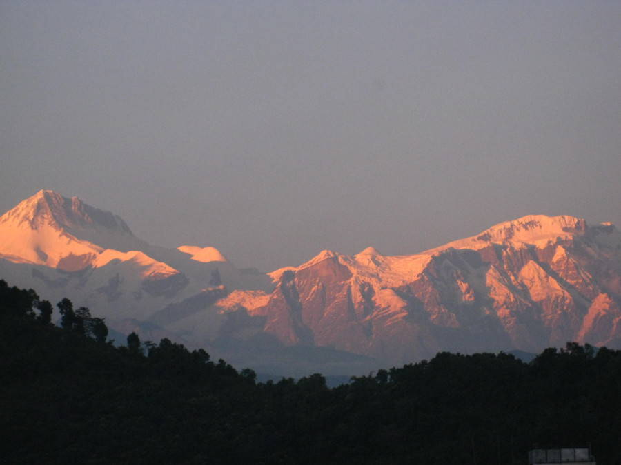 Sunset from Pokhara